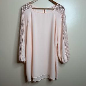 3/$20 Cato Ballet Pink Sheer Flowy Blouse